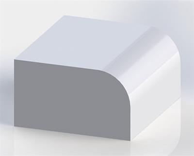 Solid Surface Half Bullnose