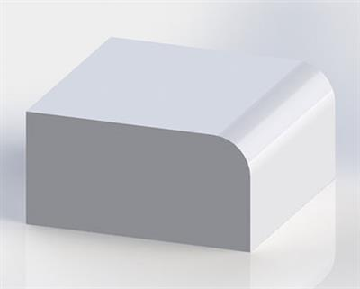 Solid Surface Half Inch Roundover